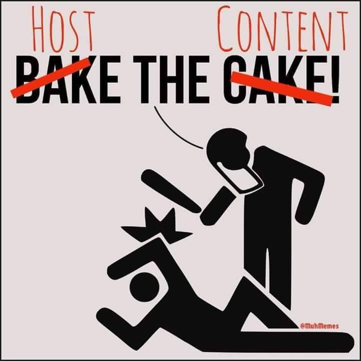 bake the cake host the content