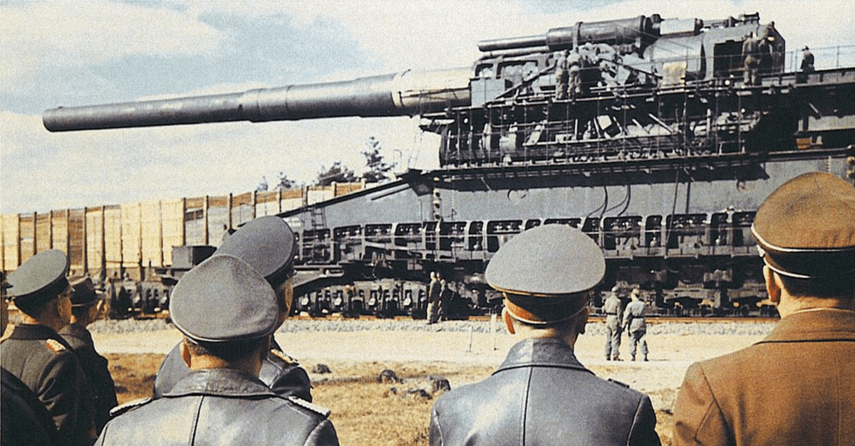 giant nazi gun armada end empire